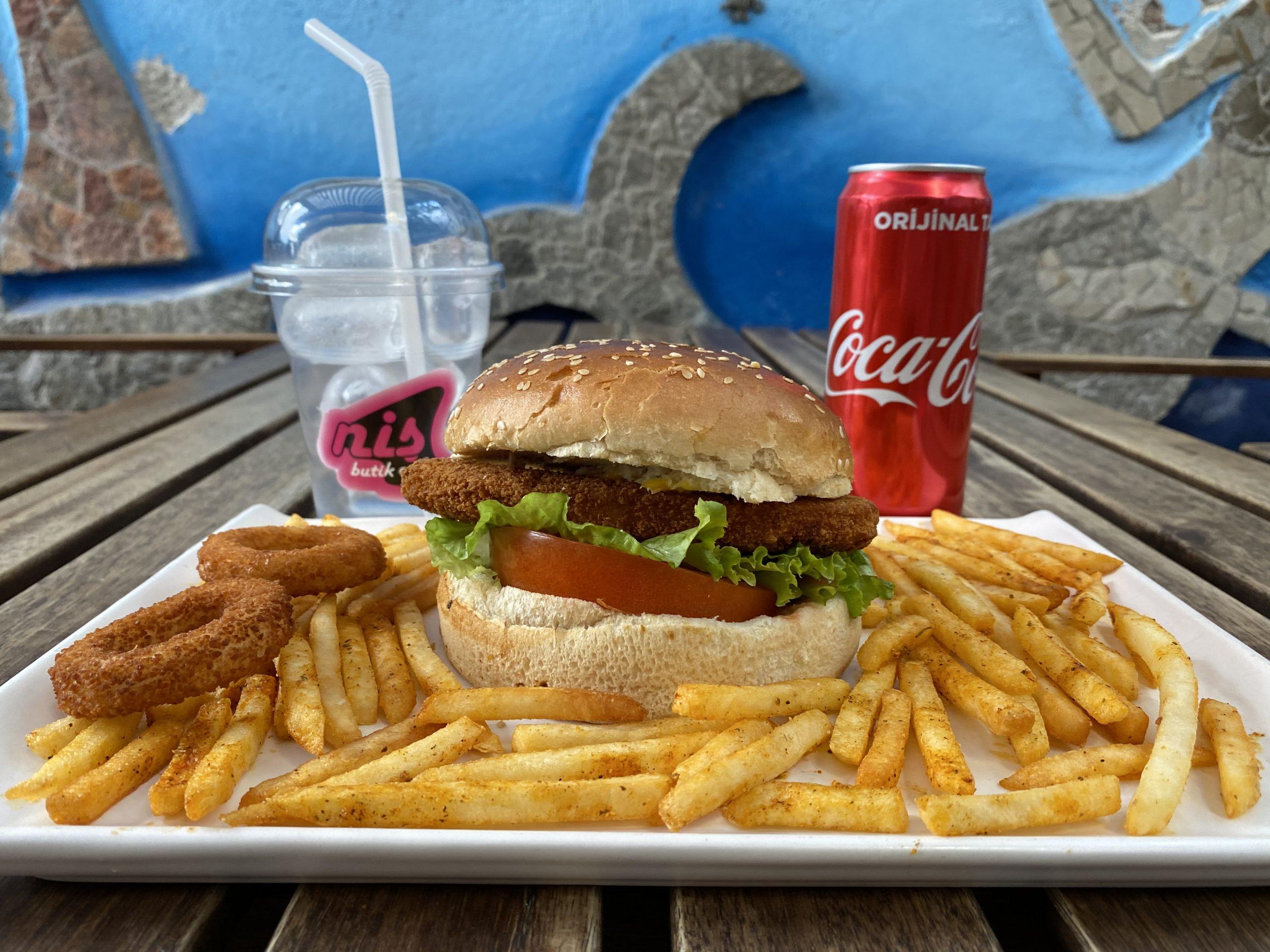 Çıtır Tavuk Pane Burger Menü